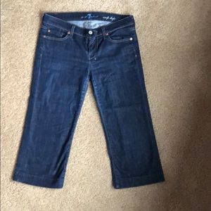 7 For All Mankind Jeans - 7 For All Mankind dark Dojo crop, size 29
